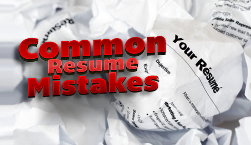 Common Resume Mistakes  ClotureclubCom