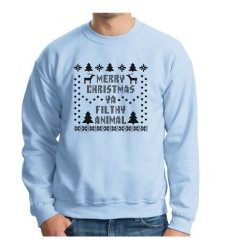 Maybe you're at a party, or maybe you're partying home alone? This sweater will bring back some fond memories. Even Macaulay Culkin would be proud of you