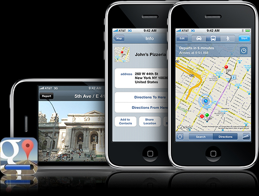 Google Maps is Now Available for the iPhone/iPad