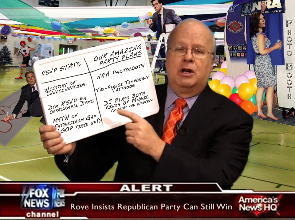 INAUGURATION NEWS:  KARL ROVE INSISTS DEM RSVP RESULTS SKEWED