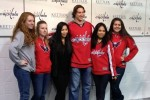 Caps Jay Beagle posing with the ladies