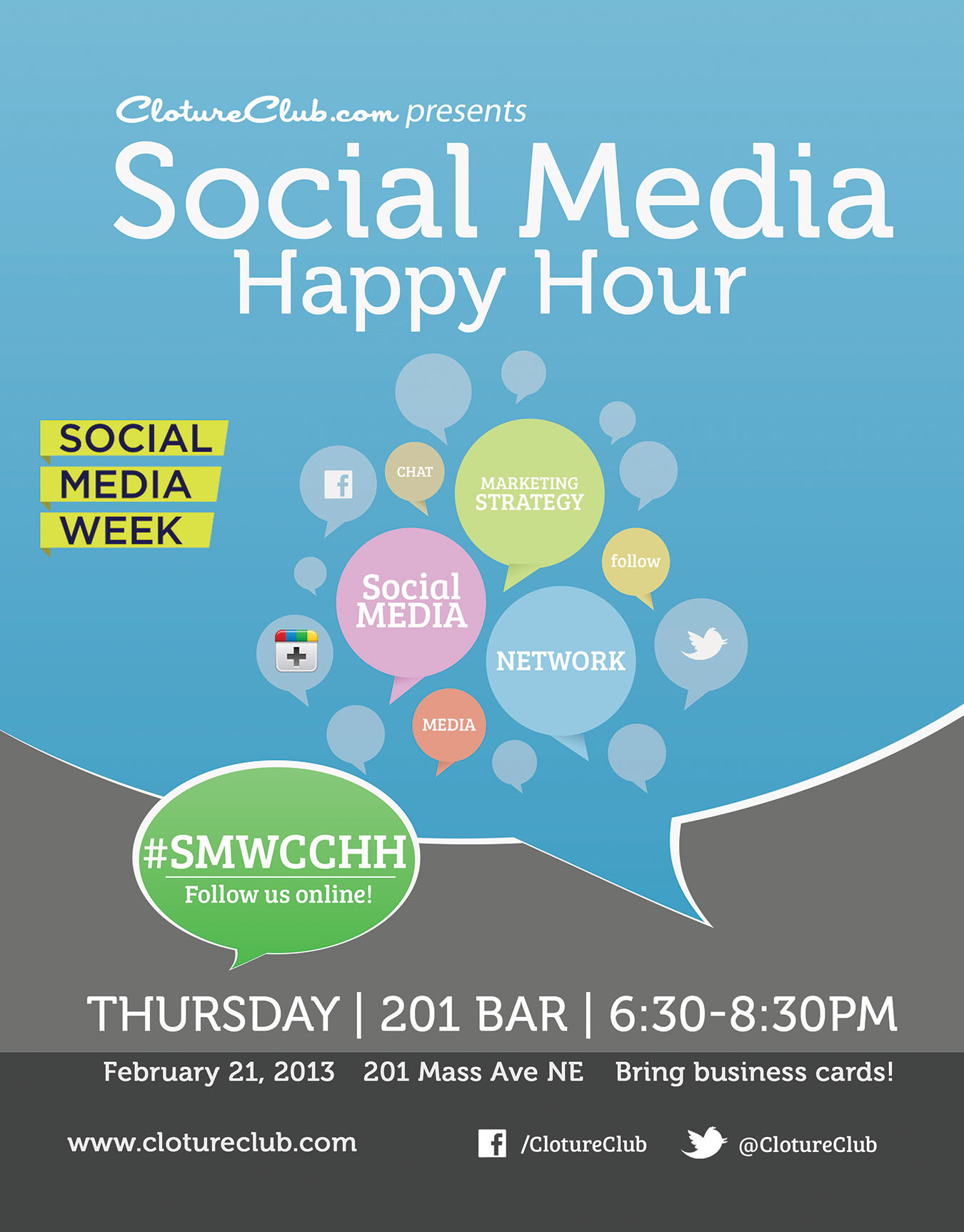 Cloture Club's Social Media Week Happy Hour