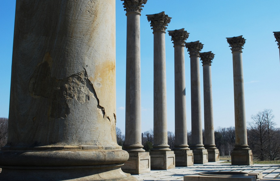 Worn Columns at the National Arboretum