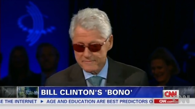 Bono does Bill, Clinton does Bono