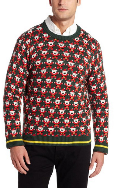 Ugly Christmas Sweater You Need to Buy Right Now - 8 Bit Santa