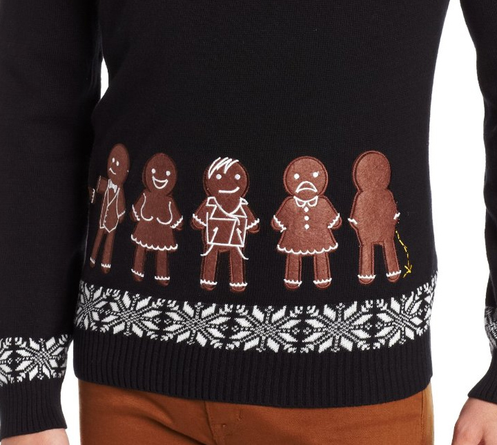 Ugly Christmas Sweater You Need to Buy Right Now - Gingerbread Line Up