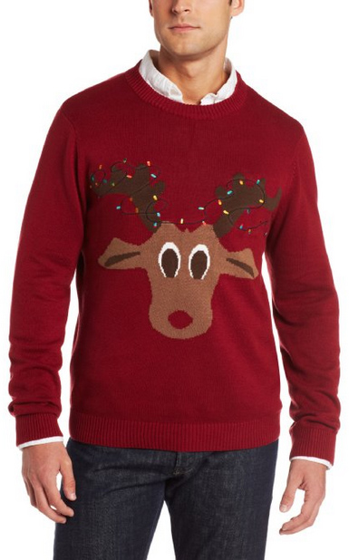 Ugly Christmas Sweater You Need to Buy Right Now - Reindeer Lights
