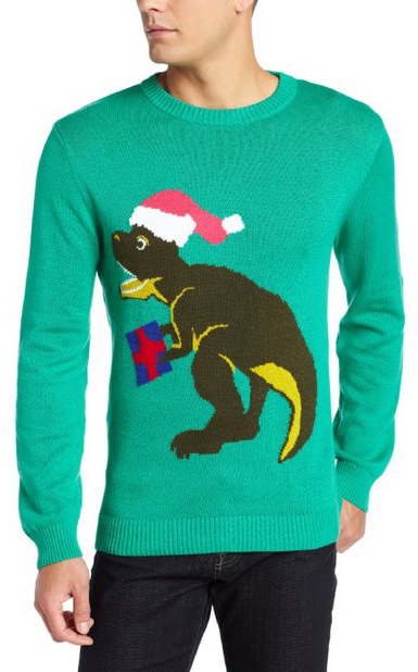 Ugly Christmas Sweater You Need to Buy Right Now - Santa-Saurus Rex