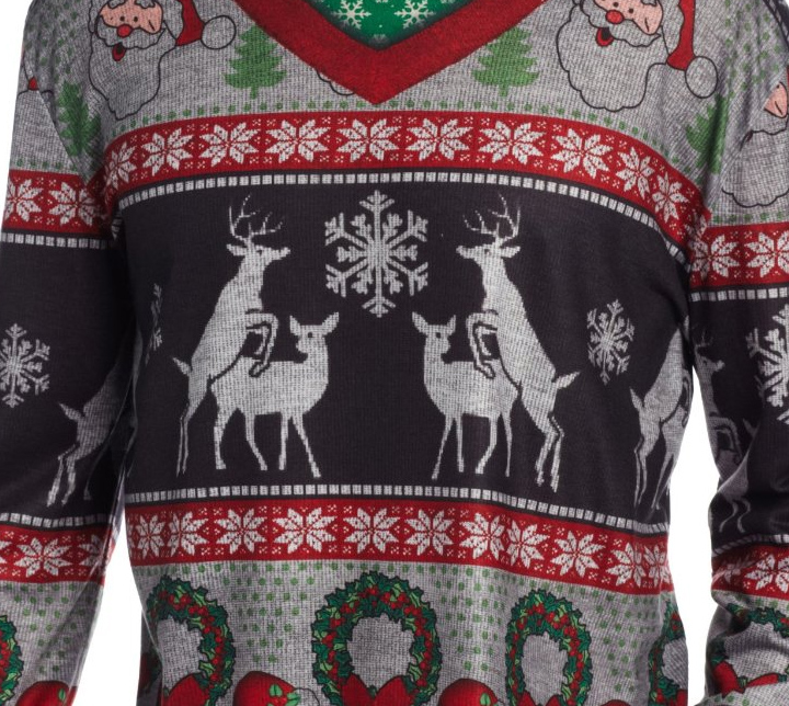 Ugly Christmas Sweater You Need to Buy Right Now - Ugly Frisky Deer