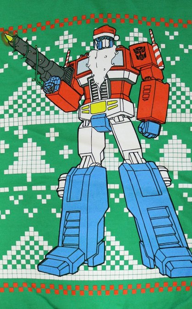 Ugly Christmas Sweater You Need to Buy Right Now - optimus-prime