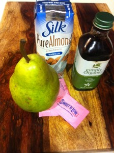 Warm Pear Almond Milk Ingredients