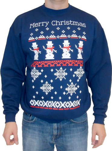 Ugly Christmas Sweater You Need to Buy Right Now - snowman-snowflakes