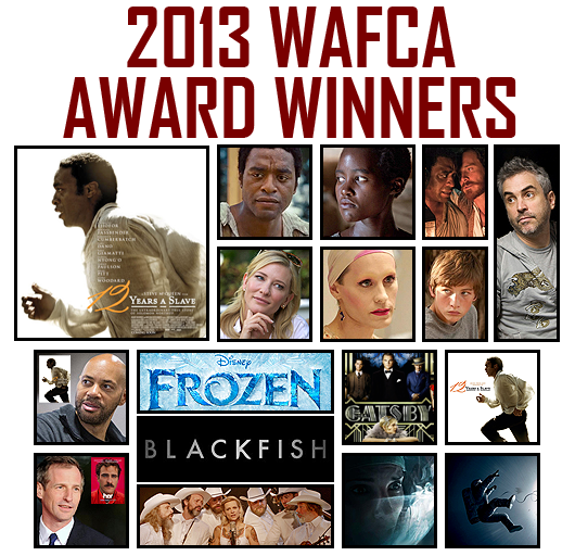 The 2013 Washington DC Area Film Critics Assocation (WAFCA) Award Winners!