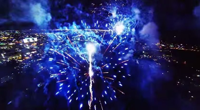 VIDEO: What's it like to be in the sky with the fireworks