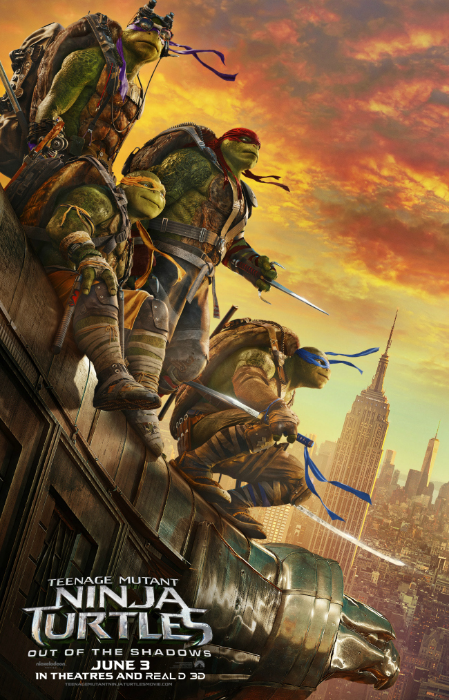 Review: Teenage Mutant Ninja Turtles Out of the Shadows; Cheesily Authentic