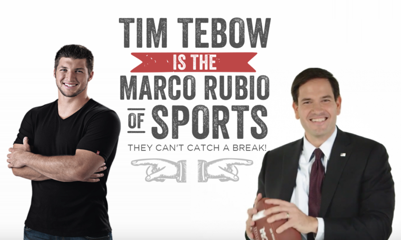 Tim Tebow is the Marco Rubio of Sports – Can't catch a break!