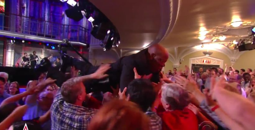 Ladies and Gentlemen, Rep. John Lewis Crowd Surfing!