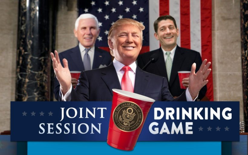 Trump's *BIGLY* Joint Session Drinking Game